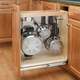 Rev-a-Shelf Pullout Organizer w/Stainless Steel Panel for Base Cabinets 444 Series