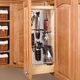 Rev-a-Shelf Pullout Organizer w/Stainless Steel Panel for Wall Cabinets 444 Series