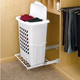 Pullout Hamper w/Tall Polymer Basket, Rev-a-Shelf HPRV Series