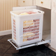 Pullout Hamper w/Short Polymer Basket, Rev-a-Shelf HPRV Series