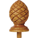 Pineapple Carved Oak Finial