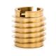 Threaded Insert for Hard Wood - Brass - 5/16-18