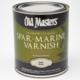 Old Masters Exterior Oil-Based Spar Marine Varnish, Quart, Satin