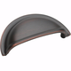 Oil Rubbed Bronze Advantage - Solid Brass Cup Pull