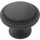 Flat Black Hardware Knob