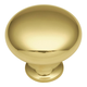 Solid Brass 1/2'' Smooth Top Knob