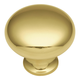 Solid Brass 1'' Smooth Top Knob