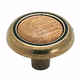 Oak / Burnished Brass Hardware Knob