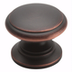 Oil Rubbed Bronze Hint of Heritage Knob