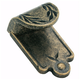 Amerock Inspirations Weathered Brass Finger Pull, BP1583-R2