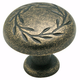 Amerock Inspirations Weathered Brass Knob, BP1581-R2