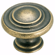 Amerock Inspirations Weathered Brass Knob, BP1586-R2