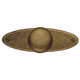 Distressed Antique Brass Knob and Plate