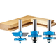 Rockler 3-Pc. Shaker Raised Panel Router Bit Set - 1/2