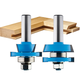 Rockler 2-Pc. Rail/Stile Shaker Cutter Router Bit Set - 1/2