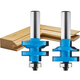 Rockler Ogee Stile and Rail Router Bit Set - 1-3/8