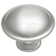 Belwith Conquest Satin Nickel Round Rimmed Knob, P14848-SN