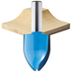 Rockler Cove Vertical Raised Panel Router Bit - 1-1/4