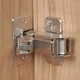 Half Overlay Blum® 170° Snap Close Clip Top Frameless Hinges, Pair