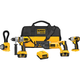 Dewalt DCK475L Heavy-Duty 18V XRP™ Lithium Ion 4-Tool Cordless Combo Kit