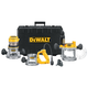 Dewalt DW618B3 Heavy-Duty 2-1/4 HP maximum motor HP Three Base Router Kit