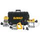 Dewalt DW618B3 Heavy-Duty 2-1/4 HP maximum motor HP Three Base Router Kit