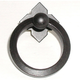 Patina Black Large Smooth Ring Pull with Backplate