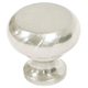 Brushed Satin Nickel Flat Faced Round Knob