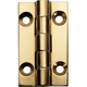 Polished Brass Narrow Fixed Pin Hinge 1-1/2