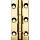 Polished Brass Narrow Fixed Pin Hinge 2