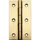 Polished Brass Fixed Pin Narrow Hinge 3