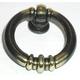 Dark Antique Brass Newton Ring Pull