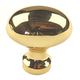 Century Solid Brass, Knob, 1'' dia. Polished Brass, 10302-3