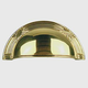 Century Solid Brass, Cup Pull, 3'' c.c. Polished Brass, 15543-3