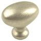 Century Zinc Die Cast, Oval Knob, 1-3/8'' dia. Weathered Nickel, 27117-WN