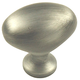 Century Zinc Die Cast, Oval Knob, 1-3/8'' dia. Weathered Pewter, 27117-WP