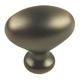 Century Zinc Die Cast, Oval Knob, 1-3/8'' dia., Antique Bronze / Copper, 27117-AZC