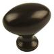 Century Zinc Die Cast, Oval Knob, 1-3/8'' dia. Light Oil Rubbed Bronze, 27117-OBL