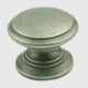 Century Solid Brass, Knob, 1-1/4'' dia. Aged Pewter, 12816-AP