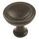 Century Zinc Die Cast, Knob,1-1/4 dia, Oil Rubbed Bronze, 22926-OB