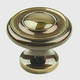 Century Solid Brass, Knob, 1-1/4'' dia. Polished Antique, 11426-PA