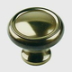 Century Solid Brass, Knob, 1-1/4'' dia. Polished Antique, 11626-PA
