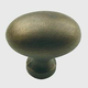 Century Solid Brass, Knob, 1-3/8'' dia.Weathered Brass, 13117-WB
