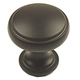 Century Zinc Die Cast, Knob,1-3/16'' dia, Oil Rubbed Bronze, 22205-OB