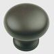 Century Hollow Brass, Mushroom Knob, 1.1/4'' dia. Oil Rubbed Bronze, 12016-10B