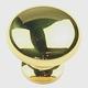 Century Hollow Brass, Mushroom Knob, 1-1/4'' dia. Polished Brass, 12016-3