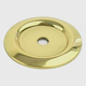 Century Solid Brass, Backplate, 1-1/4'' dia. Polished Brass, 12069-3
