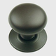 Century Hollow Brass, Knob/Backplate, 1-1/4'' dia. Oil Rubbed Bronze, 15016-10B