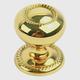 Century Hollow Brass, Knob/Backplate, 1-1/4'' dia. Polished Brass, 15026-3