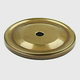 Century Solid Brass, Backplate, 1-1/2'' dia. Polished Antique, 16369-PA